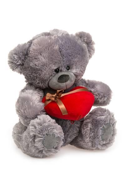 Медведь плюшевый серый