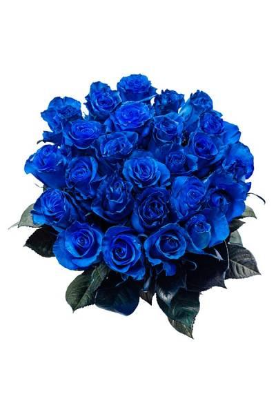 Роза синяя 80 см.